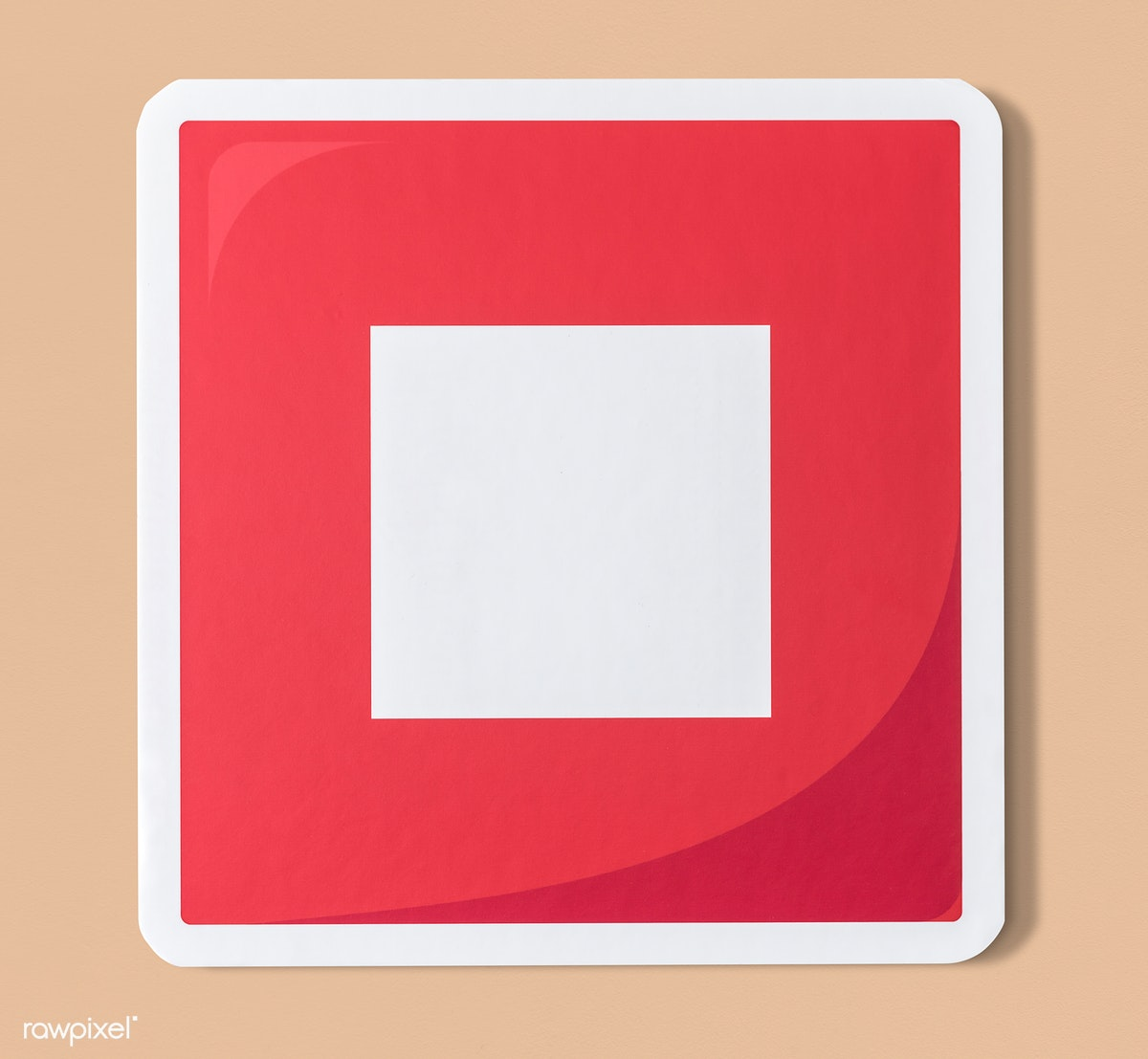 Download premium psd of Red stop button music icon 402428