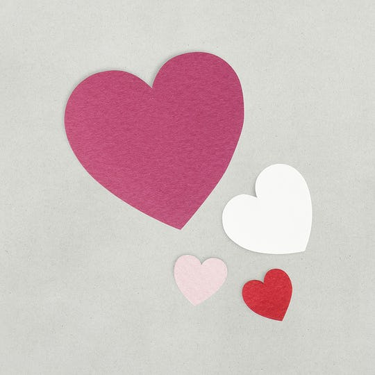 Paper craft design heart  icon