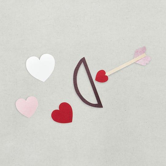 Paper craft design valentine icon