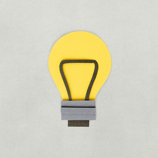 Paper craft design of light bulb icon - ID: 261500