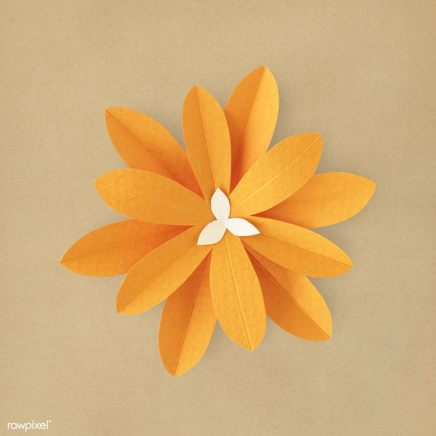 Orang Flower Paper Craft Id 261856