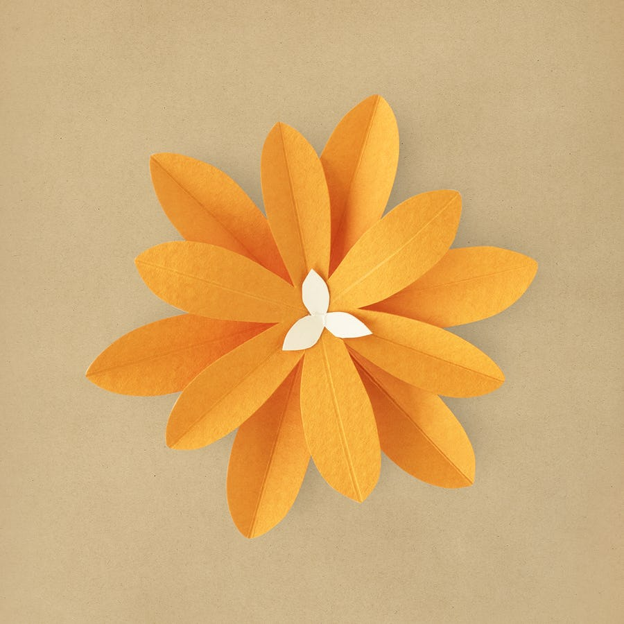 Paper craft flowers orang flower paper craft plants paper paper craft cut out orange mightylinksfo