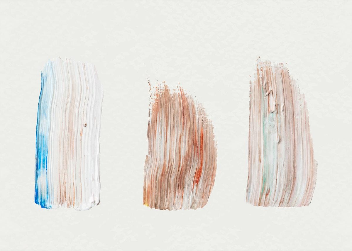 Acrylic brush stroke sample vector