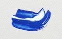 Blue acrylic brush stroke vector