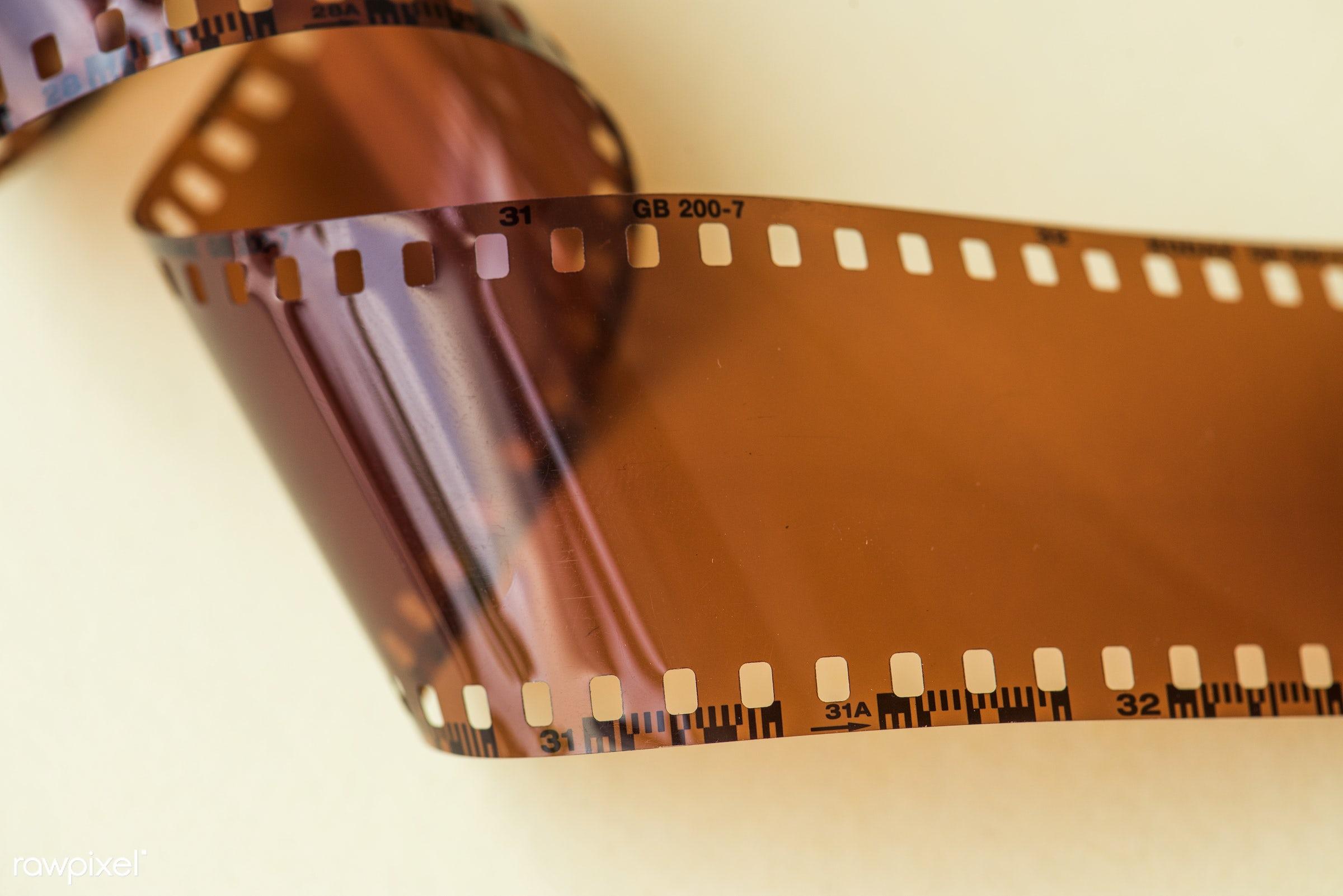 Blank film strip isolated on white background - mockup, retro, classic, flim, mock up, analog, blank, blank space, camera,...