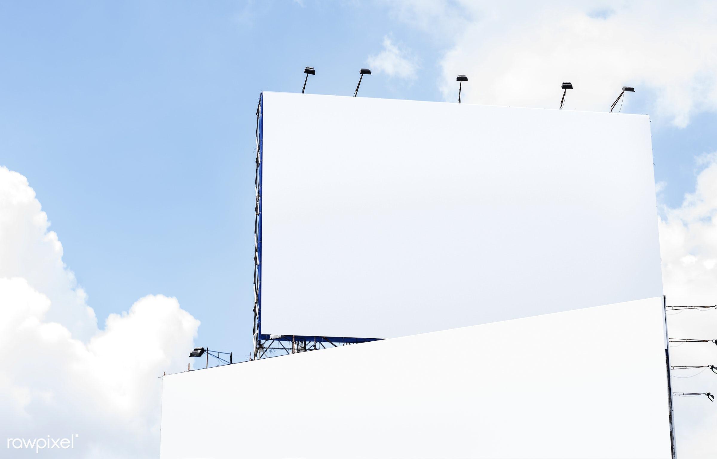 Blank bill board mockup - mockup, show, advertisement, advertising, message, poster, ad, advertise, bill board, billboard,...