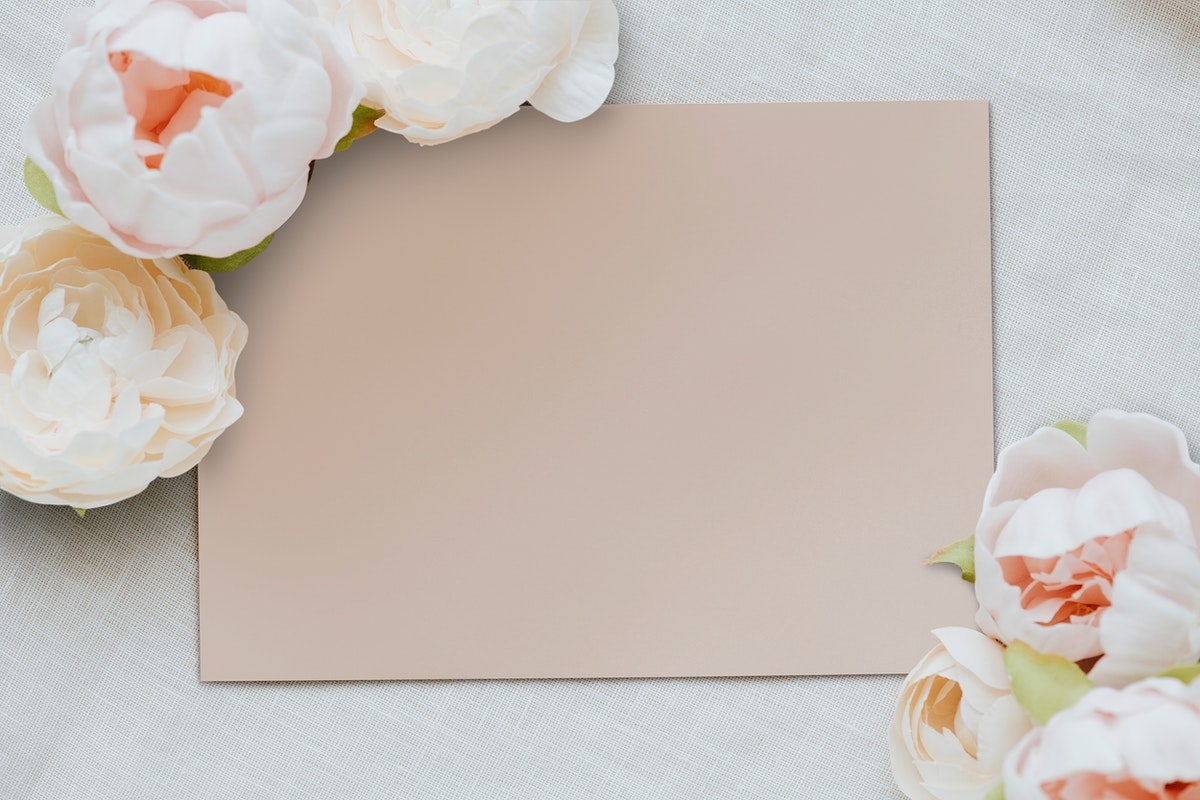 Blank brown card template mockup