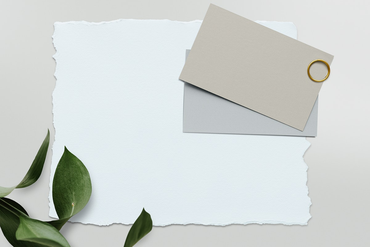 Blank white card template mockup