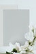 Blank gray card with sweet pea template mockup