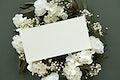 Blank botanical card template mockup