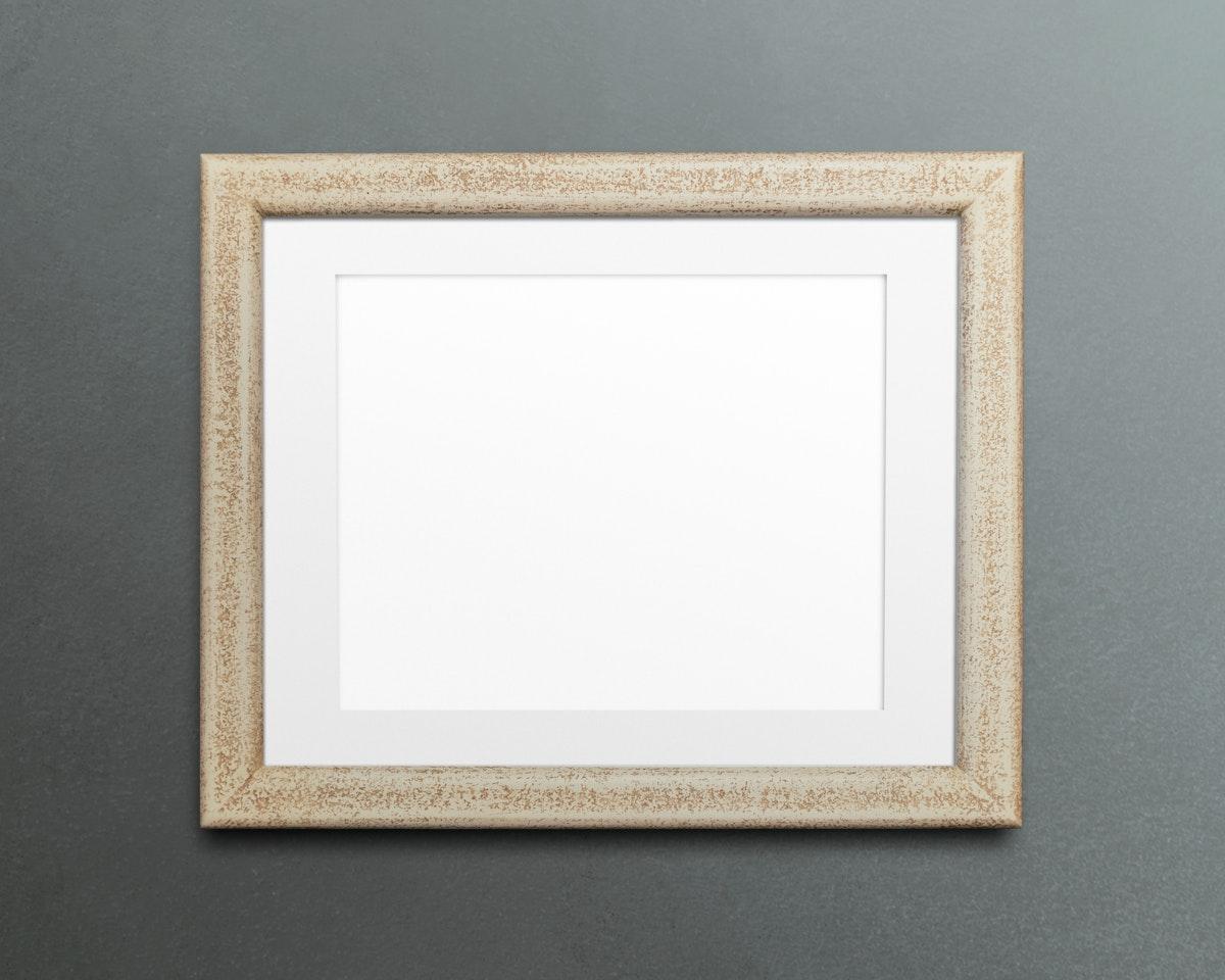 Beige picture frame mockup illustration