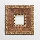 Vintage rectangle gold picture frame mockup illustration