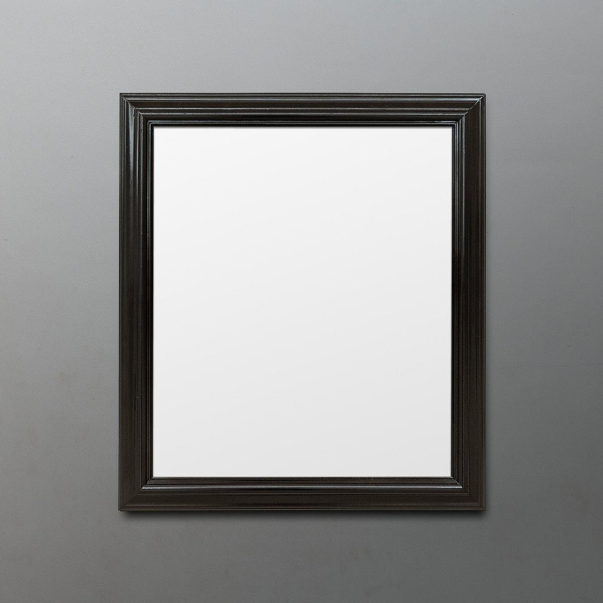 Black picture frame mockup illustration