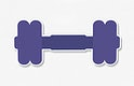 Purple dumbbell icon vector illustration