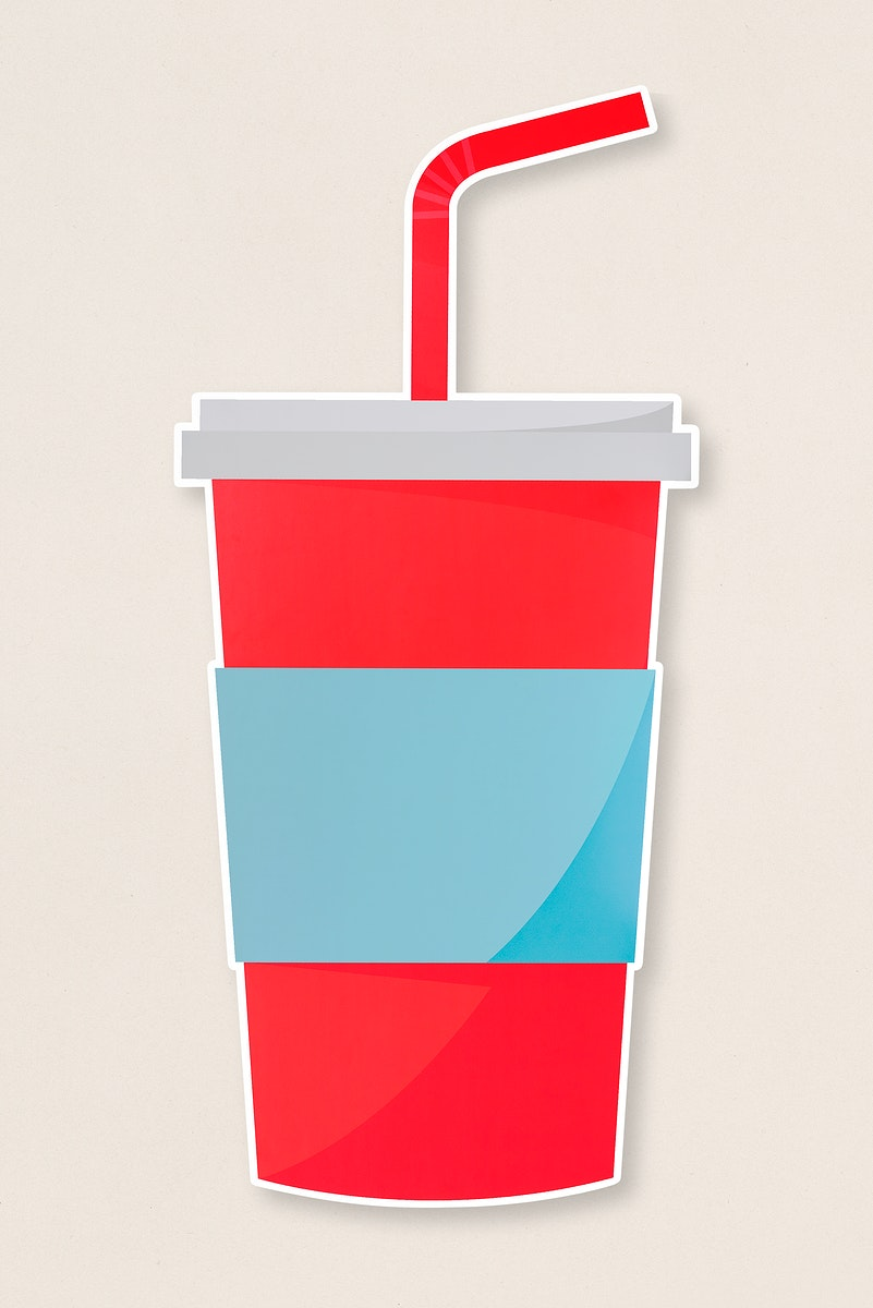 Soda cup with a straw icon