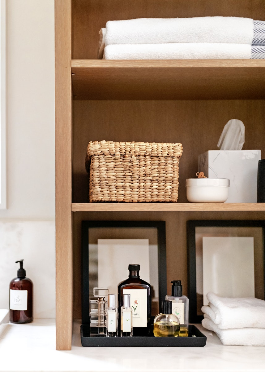 Simple and clean bathroom interior