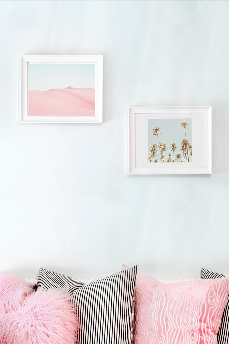 Living room with wall frame