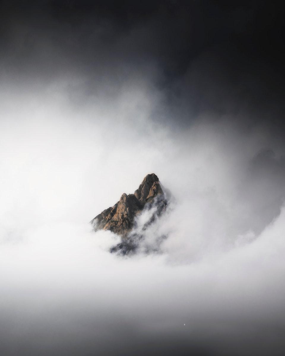 Misty Julian Alps peak background