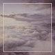 Blank frame with a cloudy dusk sky mockup