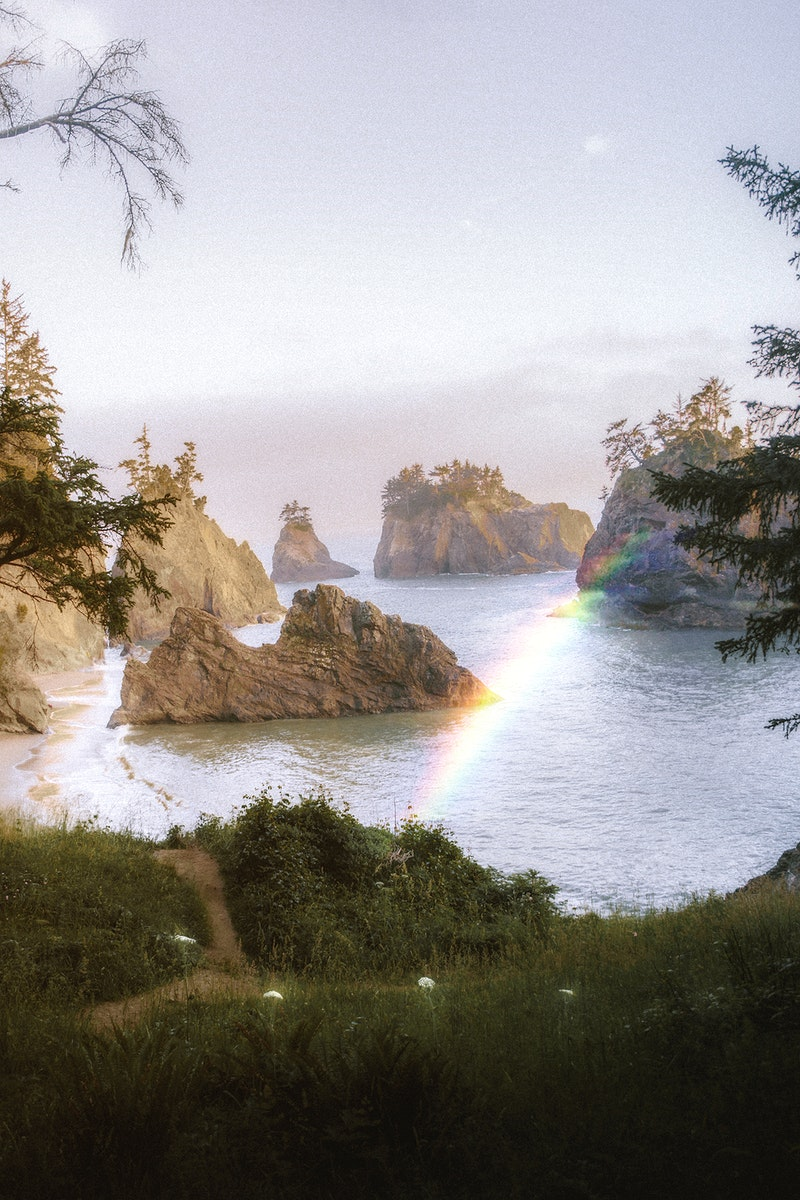 Rainbow at the west coast in USA