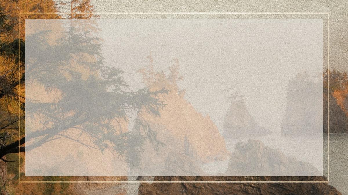 Blank frame with a west coast background mockup