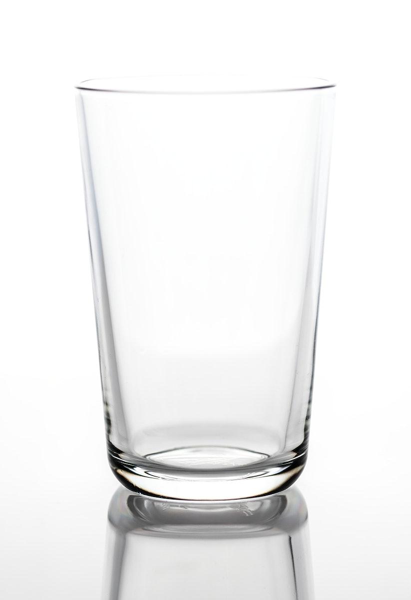 Empty drinking glass macro shot