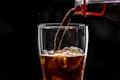 Fizzy cola drink macro shot