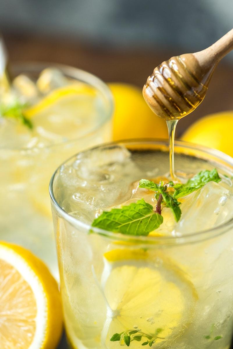 Honey lemon soda beverage photography