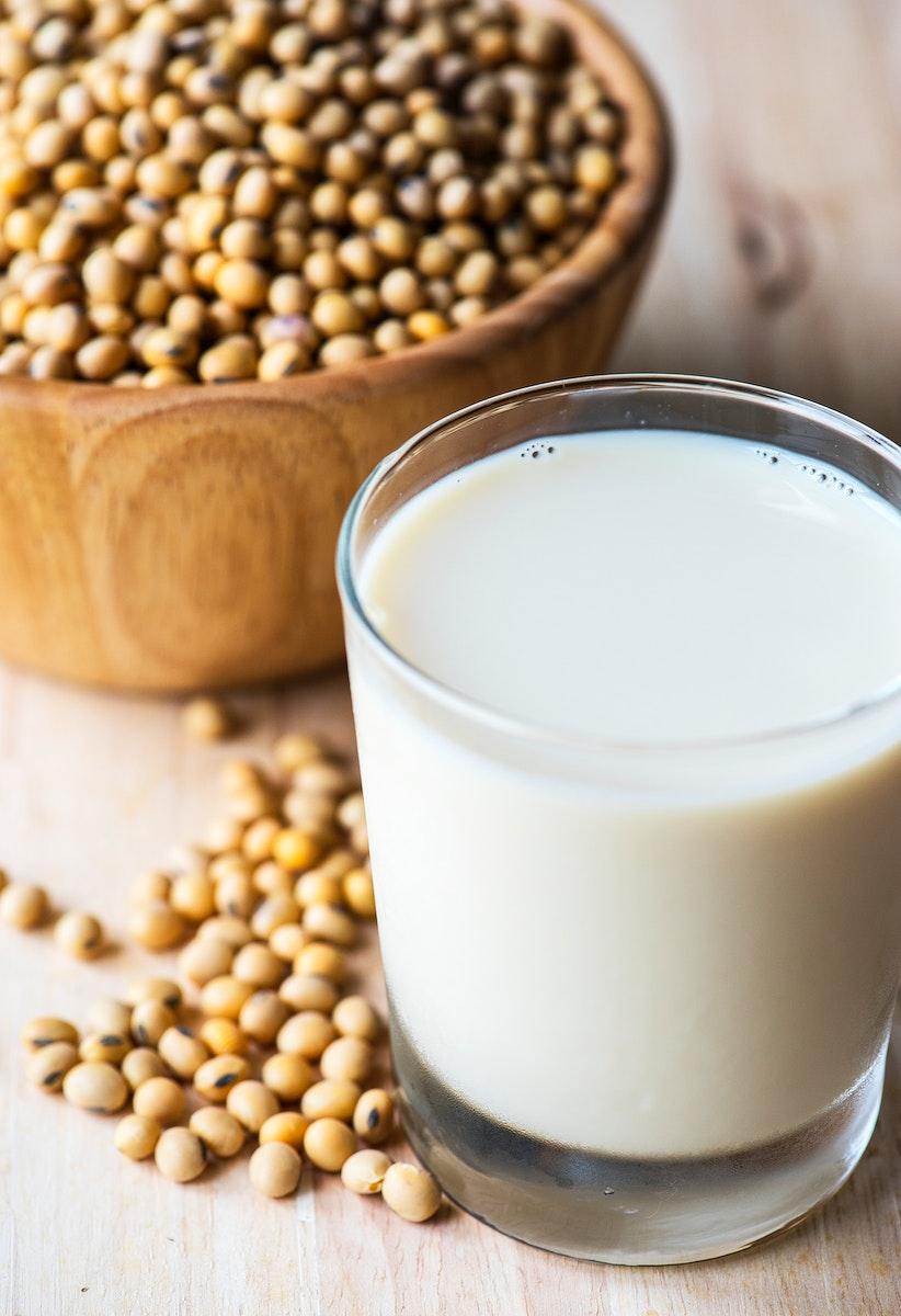 Fresh nutritional drink macro shot