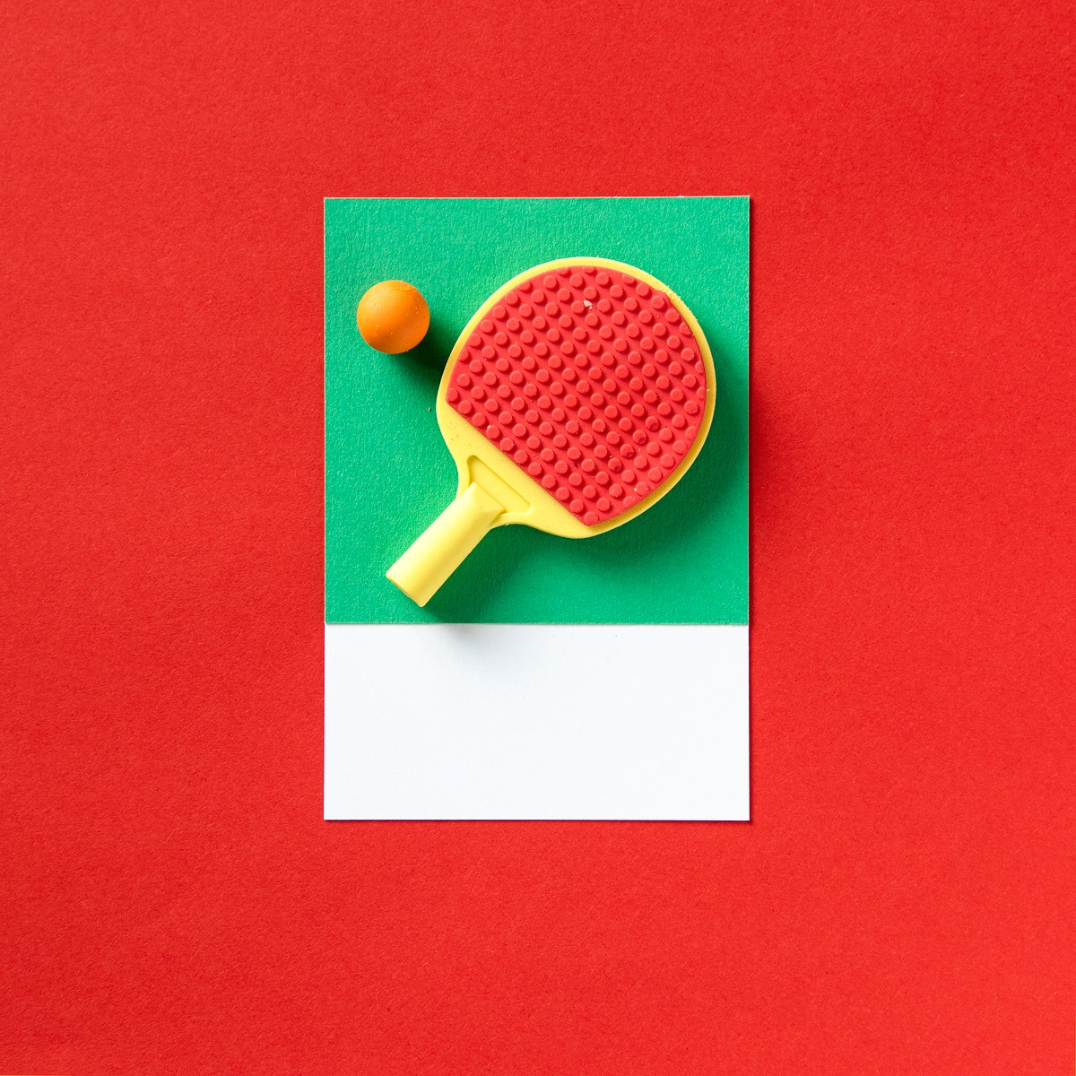 Ping pong sport racket and ball