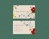 Floral business card template mockup