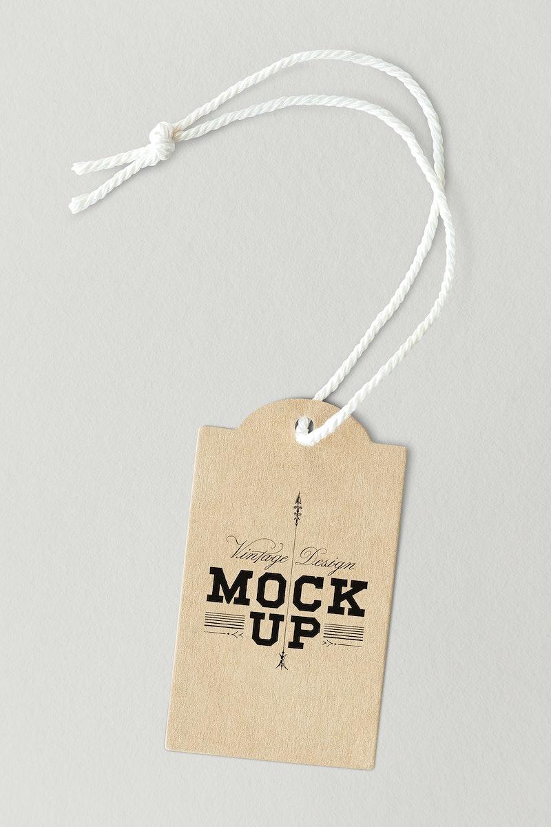 Brown vintage design label mockup