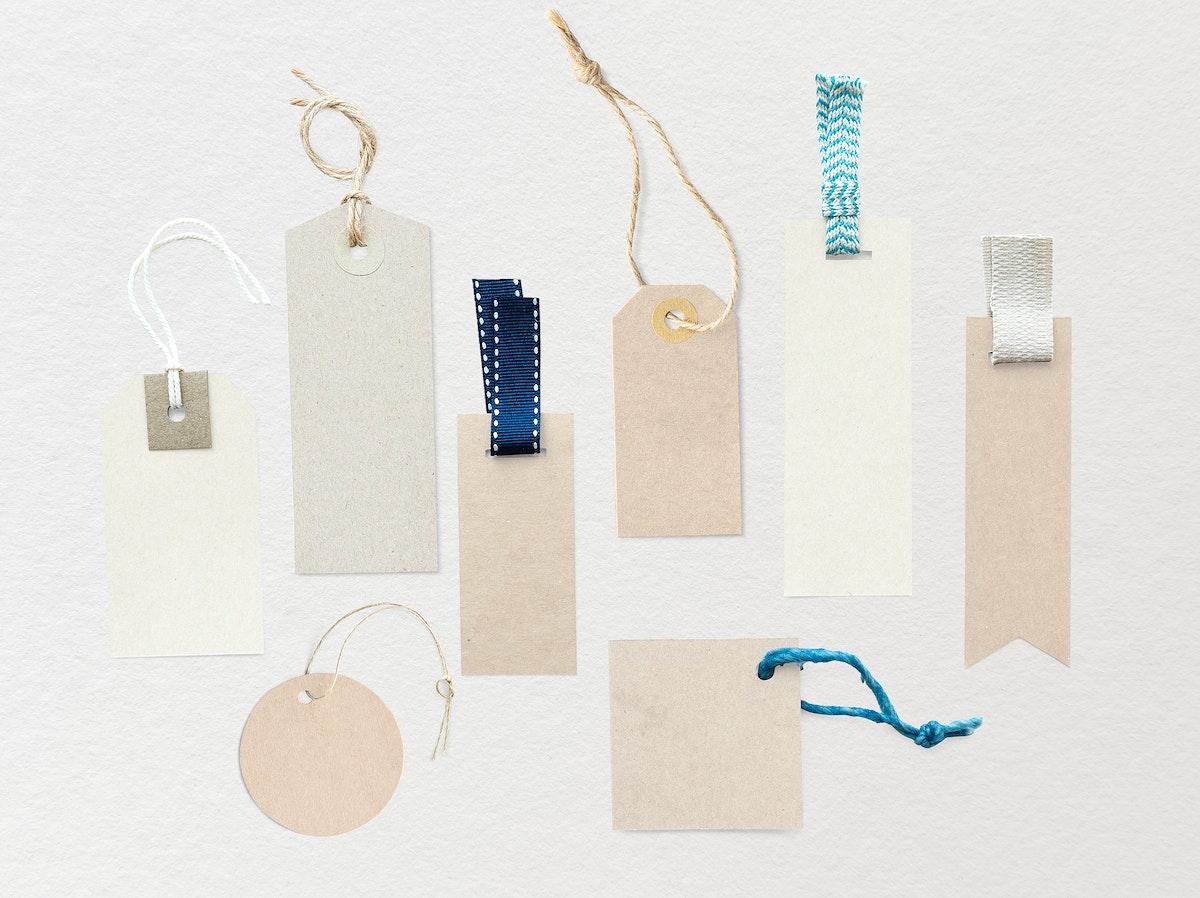 Blank fashion label mockup set