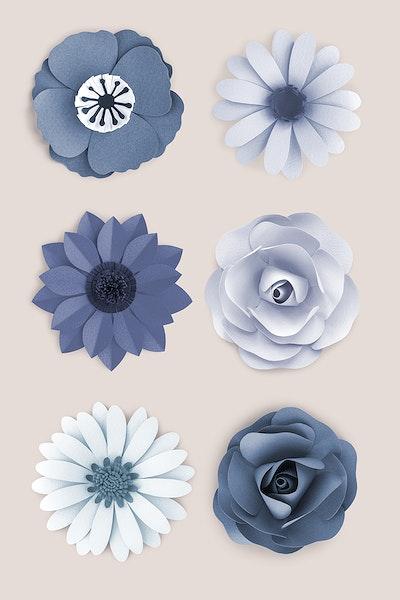 Download Premium Psd Of Light Pink Daisy Flower Paper Craft 1202486