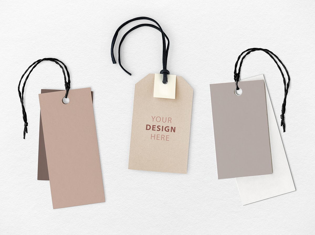 Your design here label mockup collection