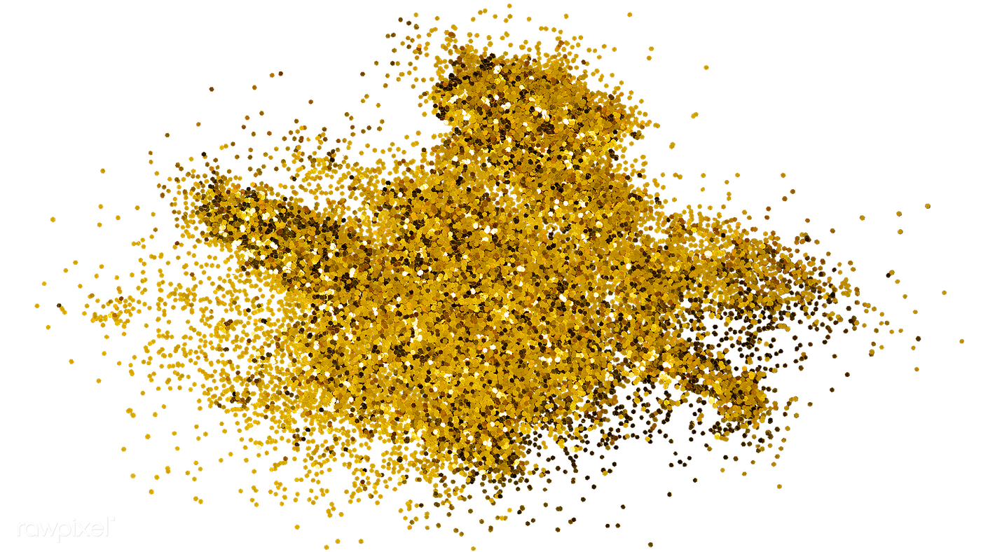 Gold glitter design element png   Royalty free stock ...