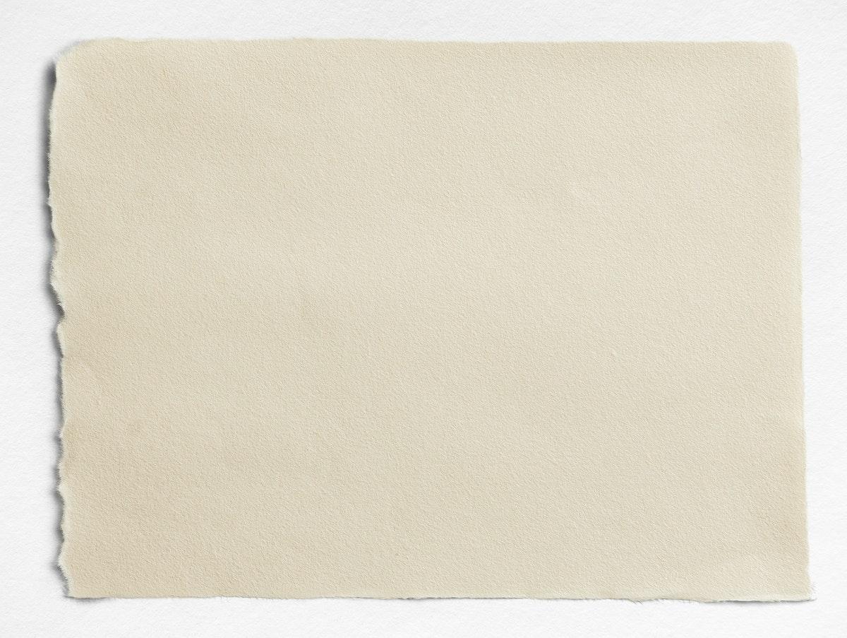 Torn blank beige paper template