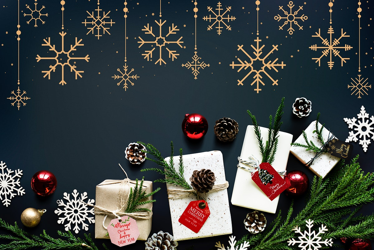 Christmas season decoration design wallpaper