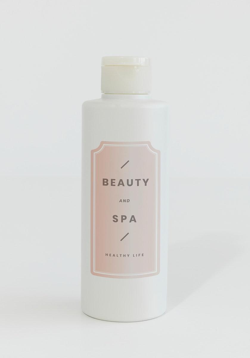 White shampoo or conditioner bottle mockup