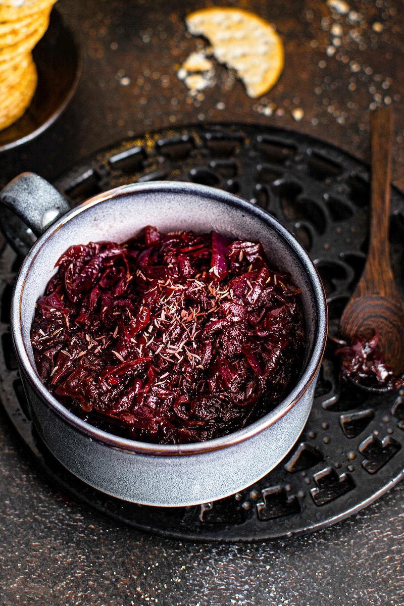 Fresh homemade onion cranberry jam
