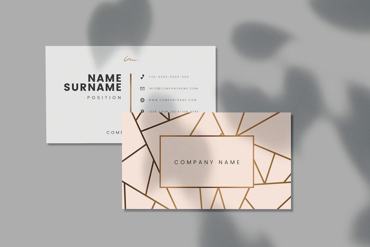 Company name business card mockup