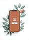 Nature mobile phone screen mockup