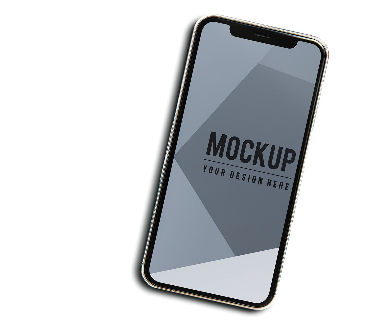 Premium mobile phone screen mockup template