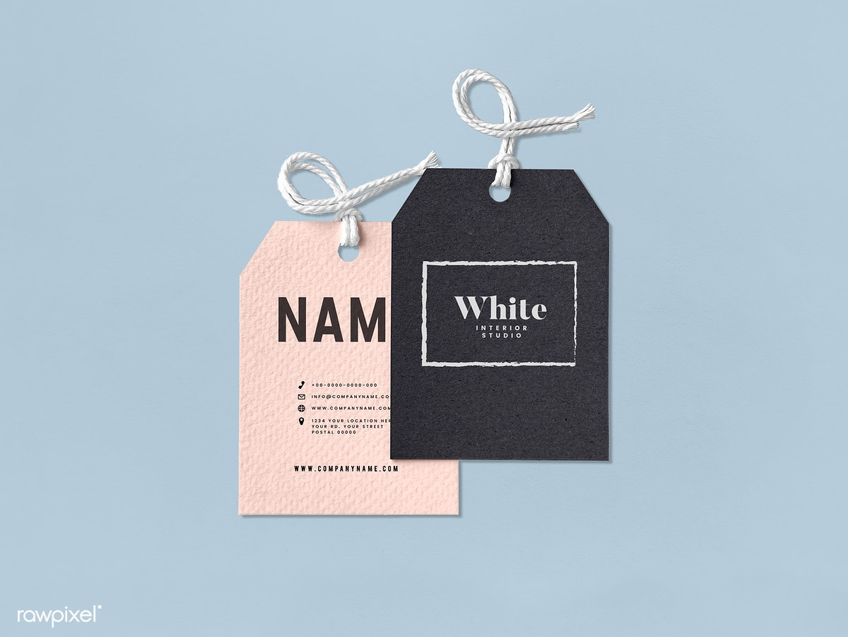 Pair of fashion label tag mockups | Free stock psd mockup - 531707