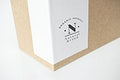 Natural paper box packaging mockup