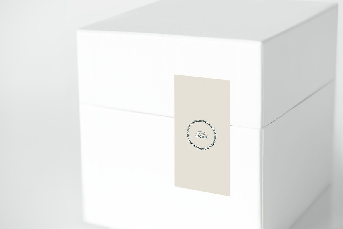Simple white packaging box mockup
