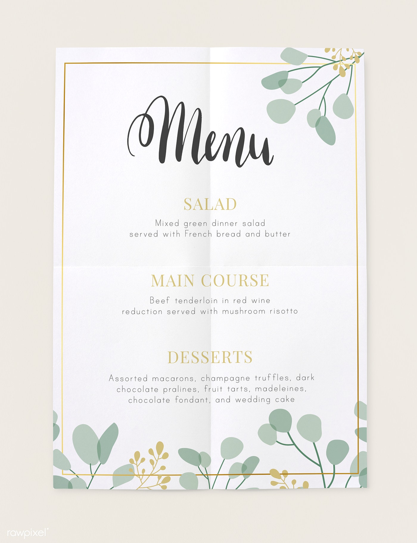 Download Premium Psd Of Restaurant Today S Menu Card Mockup 545569