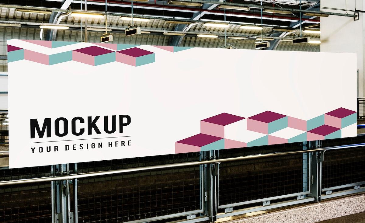 Large billboard mockup for advertisements