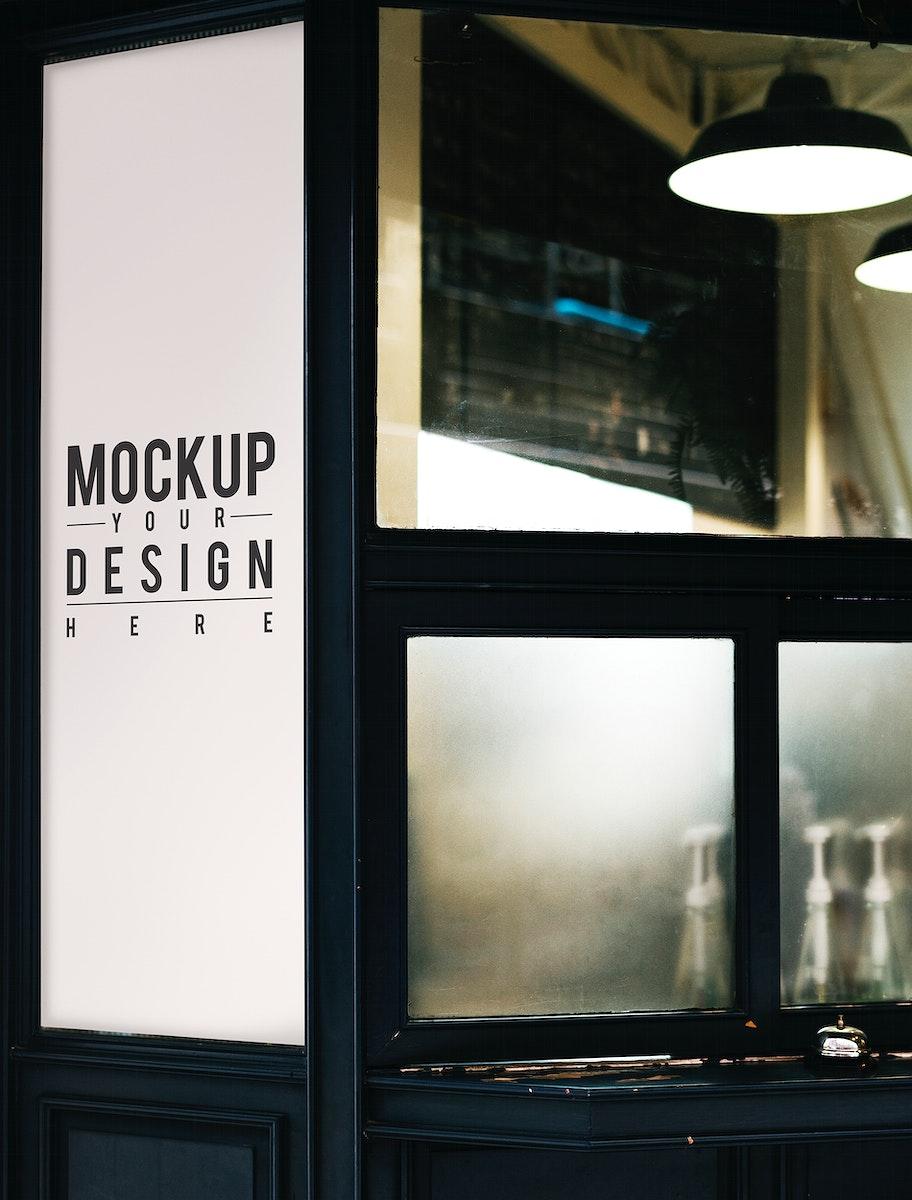 Blank minimal shop sign mockup