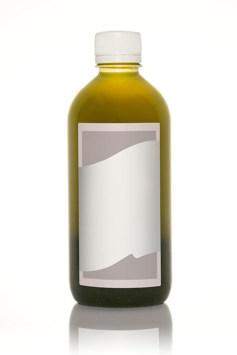 Fresh organic cold juice bottle